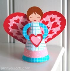 lady valentine angel- craft for girls