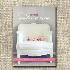 birth announcement  baby chic by westwillow on Etsy, $15.00