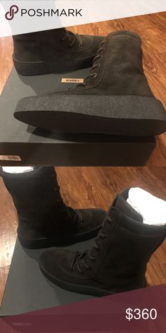 0d1a7c52 Yeezy Season 4 Military Crepe Boot Oil US 9 Yeezy Season 4 Thick Sole Oil  Crepe