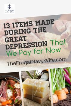 Did you know there are many items then made during the Great Depression and we now buy? Head back to basics with these items to save money on items like.... #frugalnavywife #frugaldiy #frugalliving #greatdepression | Saving Money | Great Depression Hacks | How to Save Money | Frugal Living | Frugal Living Tips Money Tips, Money Saving Tips, Money Hacks, Frugal Living Tips, Frugal Tips, Do It Yourself Projects, Do It Yourself Home, Make Money From Home, Way To Make Money