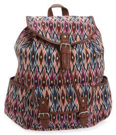 Tribal Ikat Cinch Backpack -