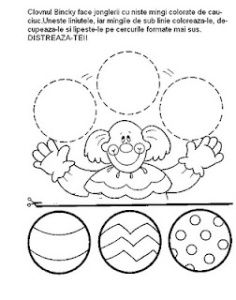 Printable worksheets for kids Geometric Shapes 17 Preschool Circus, Circus Activities, Printable Activities For Kids, Preschool Worksheets, Printable Worksheets, Clown Crafts, Circus Crafts, Carnival Crafts, Puzzle Photo