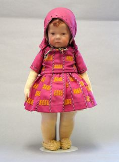 All-original 17 Kathe Kruse Doll I handmade at the Kathe Kruse studios in Bad Kosen, Germany circa 1925. This doll has never been altered or played