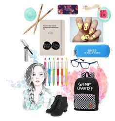 """Back to school in 5 days ugh!"" by qualle21lorda ❤ liked on Polyvore featuring Happy Jackson, Jac Vanek, Vans, Topshop, Ray-Ban, Bobbi Brown Cosmetics, Casetify and Fujifilm"