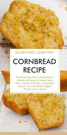 Gluten Free Cornbread, Homemade Cornbread, Corn Bread Gluten Free, Glutenfree Cornbread Recipe, Simple Cornbread Recipe, Gluten Free Corn Muffins Recipe, Gluten Free Homemade Bread, Gluten Free Bread Recipe Easy, Healthy Cornbread