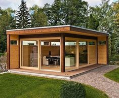 Shed Plans - Shed Plans - Wooden garden shed - modern design Now You Can Build ANY Shed In A Weekend Even If Youve Zero Woodworking Experience! Now You Can Build ANY Shed In A Weekend Even If You've Zero Woodworking Experience! Garden Office Shed, Backyard Office, Backyard Studio, Garden Studio, Shed Design, House Design, Design Design, Garden Design, Design Homes