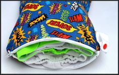 Custom Comic Book Cotton or Flannel Reusable Wet by geekabyebaby, $20.00
