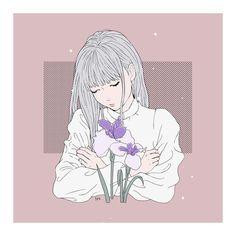 Image about pink in Girl/Admirable art by Paloma Tiss Anime Art Girl, Manga Art, Manga Anime, Cute Illustration, Character Illustration, Digital Illustration, Aesthetic Art, Aesthetic Anime, Pretty Art