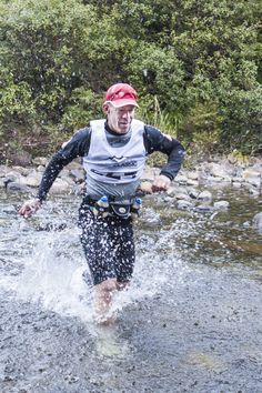 Competitor crossing the riving during one of the running legs of the 2012 Coromandel Classic multisport race Running Images, Rotorua New Zealand, Mead, Racing, Classic, Photography, Running, Derby, Photograph