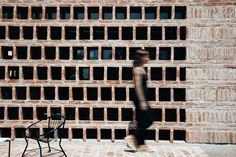 Image 2 of 33 from gallery of AR House / Valeria del Vecchio. Photograph by Carolina Estelles Architectural Materials, Rammed Earth, Brickwork, Terracotta, Outdoor Structures, Architecture, Gallery, Image, Bricks