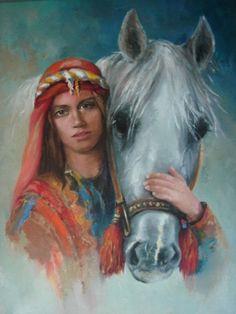 Remzi Iren -.Turkish Painter Anatolia headband