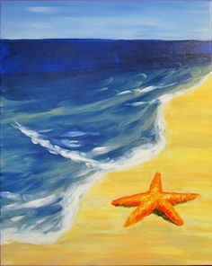 Sea Star - Lindsey Sniffin - Paint Nite Blue wash