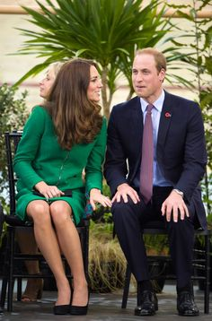 """Pin for Later: What Are the Duchess of Cambridge and Prince William Always Whispering About? Kate: """"Oh my, I almost touched your leg!"""""""