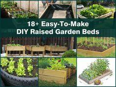 18+ Easy-To-Make DIY Raised Garden Beds - http://www.hometipsworld.com/18-easy-to-make-diy-raised-garden-beds.html