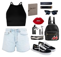"""""""Untitled #10"""" by bavinchi on Polyvore featuring Acne Studios, Boohoo, J.Crew, Kenneth Jay Lane, INIKA, Lime Crime and Sloane Stationery"""