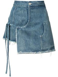 SANDY LIANG Denim Wrap Skort. #sandyliang #cloth #skort