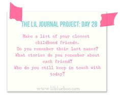 The Lil Journal Project Day 28 via lilblueboo.com