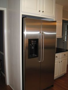 312648399103391337 furthermore 271651708587 besides Viking Refrigerator Review Professional Series Side By Side And French Door Bottom Mount 36 Free Standing Viking Refrigerators moreover Renovation Tiny Kitchen additionally Corner Pantry. on cabinets around refrigerator ideas