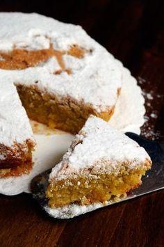 Torta Santiago con mandorle senza farina burro olio vickyart arte in cucina