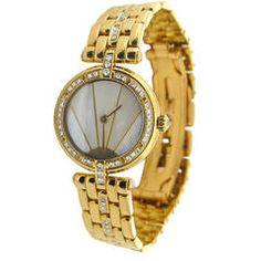 Cartier Lady's Yellow Gold and Diamond Bracelet Watch