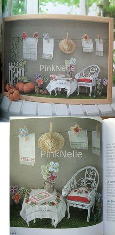 Miniature Window Box Petites vitrines Cross Stitch Book. $33.00, via Etsy.