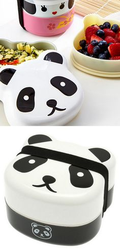 Panda Bento Two-Tier Bento Box - I LOVE Bento boxes and this one is super cute!