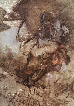 Weeping Girl, 1900, Alfons Mucha | Strings of Pearl's | Flickr