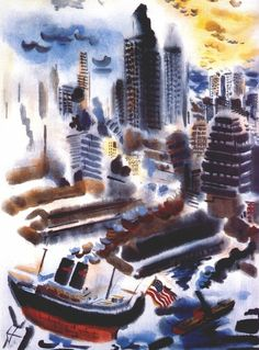 """NYC. Manhattan, 1934 //  George Grosz"""