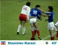 Poland 2 Yugoslavia 1 in 1974 in Frankfurt. Stanislav Karasi got a goal on 43 minutes to make it 1-1 in Round 2, Group B at the World Cup Finals.
