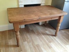 French Country pine dining table
