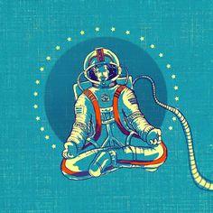 You can meditate everywhere! #yoga #meditation #om #zen #astronaut #universe #spaceman