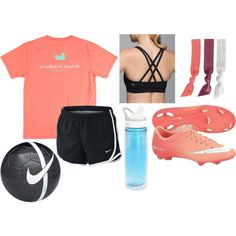 soccer practice by okieprep on Polyvore featuring lululemon, CamelBak, NIKE and preppy