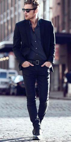 Sakko hemd blaues schwarzes OUTFITTERY Magazin