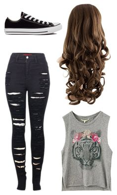 """""""Untitled #1"""" by shay-leigh-1 on Polyvore featuring 2LUV and Converse"""