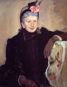 Portrait of an Elderly Lady,   Mary Cassatt - 1883