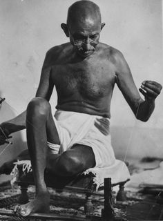 Before she was allowed to photograph Gandhi, Bourke-White was informed she would need to learn the spinning wheel. (She caught on quickly.) Her now-famous images of Gandhi working at his wheel, like this one from 1946, became an enduring representation of Gandhi's legacy.