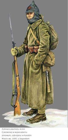 ARMATA ROSSA - Fuciliere con Mosin 1891, 1940