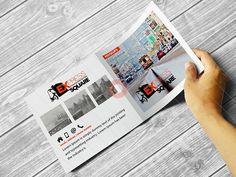 Free Download Bifold Square Brochure Mockups #free #download #mokups #psd
