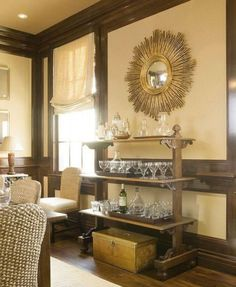 Antique Shelf Unit Used To Hold Barware In Dining Room.