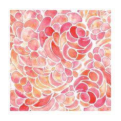 Abstract Peony Watercolor Wall Art Prints