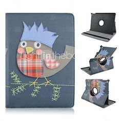 Fashion Painted Owls Rotary PU Tablet Protect Case with Stand for iPad Air 2 - EUR €17.99