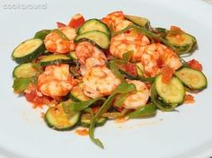 home made zucchini shrimps and curry