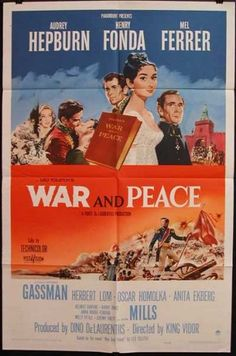 War and Peace, Starring Audrey Hepburn, Henry Fonda, and Jose Ferrer http://www.bing.com/images/search?q=1950%27S+Horror+Movie+Posters&view=detail&id=E9A8F568B2D532FDE14BBDD4969B75115833307D&first=386