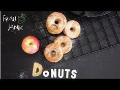 gesunde Apfeldonuts | Apfelküchlein aus dem Ofen - Frau Janik