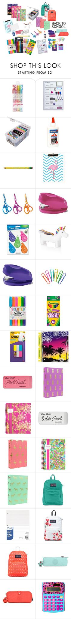 Back to School Supplies by ArgentineanDoll on Polyvore featuring JanSport, Lilly Pulitzer, ArtBin, Forever 21, Mead, 686, Kipling, Paper Mate, Swingline and NPW