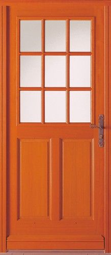 Majorque porte d 39 entr e bois classique mi vitr e bel 39 m for Porte de garage bel m