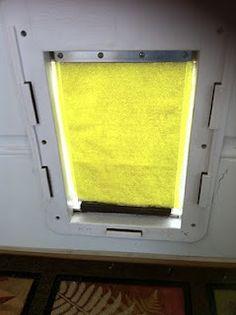 Do it yourself weatherproof dog door