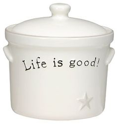 Mom added this to my canister set! - cookie jar