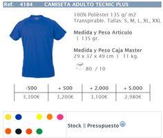 Camisetas personalizadas, transpirables, ideal para el verano, 100% poliéster, no se arrugan. Puedes comprarlas en nuestra tienda online, stock permanente, variedad en colores y tallas. http://andaluzadeserigrafia.blogspot.com.es/2016/03/camisetas-personalizadas-tecnicas-plus.html