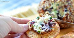 ONION, CRANBERRY AND PECAN CHEESE BALL is easy to make, tastes amazing and has the most beautiful colors!!! Your friends will go nuts for this make ahead appetizer!